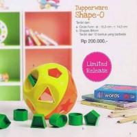 Shape O Tupperware mainan edukasi anak belajar promo murah