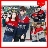 TOKO Sweater Couple Boy Just Do It Kombinasi Terbaru