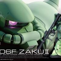 1/144 RG MS-06F Zaku II Green