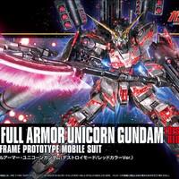 HG 1/144 HGUC Full Armor Unicorn Gundam Destroy Mode Red color ver