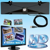 Antenna TV LED LCD HD DIGITAL Indoor Clear Vision U-VHF Flat Antena