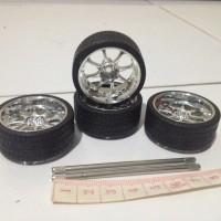 harga Ban Velg Chrome lebar 1.7 cm Jada Import Racer Lengkap dengan As Tokopedia.com