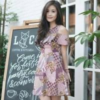 Baju dress sabrina batik wanita premium murah