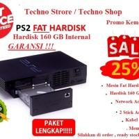 Sony PS2 PS 2 Playstation 2 FAT NA HDD 160 GB Full Set