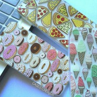 Food Pizza Ice Cream Donat Jelly Softcase / Soft Case / Casing iPhone