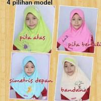 Jual hijab anak / jilbab anak shabihah  simetris depan size 2,4,6 Murah