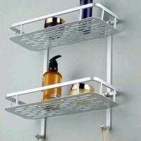 Rak Aluminium Tempat Sabun Kamar Mandi Desain Minimalis Anti Karat