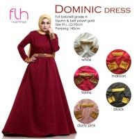 FLH Gaun pesta ekslusif DOMINIC DRESS (busana muslim,gamis busui,kaos