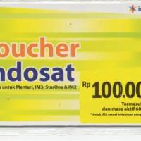 VOUCHER INDOSAT 100 RIBU