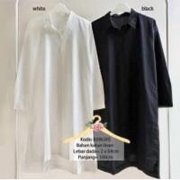harga Merry tunic / tunik hitam putih / baju kemeja muslimah / blus panjang Tokopedia.com