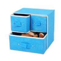 Box Penyimpanan bag kotak lemari kain tiga laci pakaian dalam aksesori