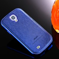 Casing samsung Galaxy S4 fashion leather aluminium bumper back case