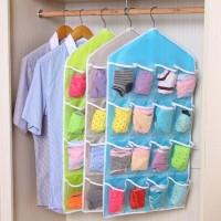 Storage Gantung 16 Kantong Hanger Organizer Underwear Pouch Korean