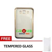 Softcase Samsung Galaxy E7 List Crome + Gratis Tempered Glass