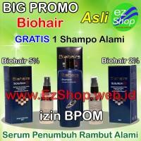 Paket Penumbuh Rambut Bio Hair Tonic Beli 2 Gratis 1 Shampo Alami