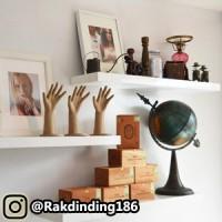 3 Rak Dinding, Minimalis, Gantung, Melayang, Kayu Uk.60 x 30 x 4 cm