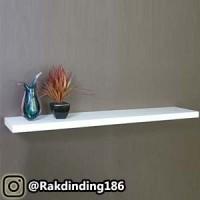1 Rak Dinding, Minimalis, Gantung, Melayang, Kayu Uk. 80 x 10 x 4 cm