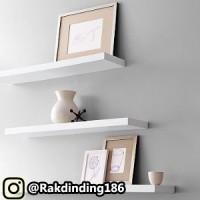 3 Rak Dinding, Minimalis, Gantung, Melayang, Kayu Uk. 60,50,40 x 15