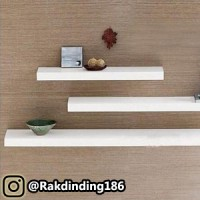 3 Rak Dinding, Minimalis, Gantung, Melayang, Kayu Uk. 120,100,80 x 20