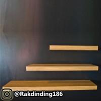 3 Rak Dinding, Minimalis, Gantung, Melayang, Kayu Uk. 60,40,20 x 20