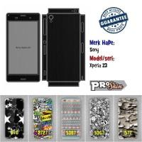 Garskin hp Sony Xperia Z3 harga grosir bisa pakai foto sendiri