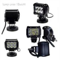 Lampu sorot WORKLIGHT LED Cree 6 mata sisi tembak kabut 18w Motor mobi