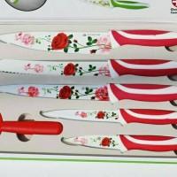 Jual Pisau keramik set 6 in 1 plus box-kitchen knife Murah