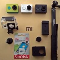 Paket Xiaomi Yi Camera + Monopod + MicroSD 16Gb + Kingma Waterproof