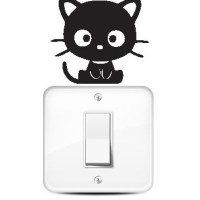 Jual Wallstiker Stiker Saklar Lampu Chococat Kucing Hiasan Dinding Sticker Murah