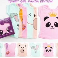 Tshirt Kazel Girl Panda edition baju atasan bayi anak cewek