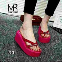 Sandal wedges SG568 red