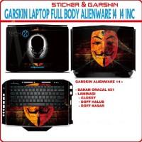 Garskin Full Body Alienware M14 14 Inc Motif Bisa Custom