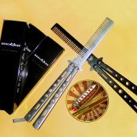 Jual Switchblade balisong comb Sisir Lipat Pisau pomade butterfly benchmade Murah