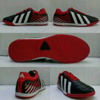 Sepatu Futsal Adidas Adipower Hitam-Merah list Putih Grade Ori
