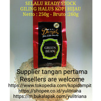 Jual GILING HALUS Kopi Hijau / Green Coffee Tekstur mirip pasir pantai Murah
