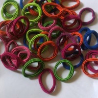 karet jepang ikat rambut warna warni sepasang