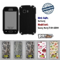 Garskin hp Samsung Galaxy Young 2 SM-G130H branded murah motif kustom