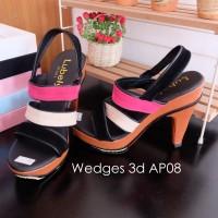 harga High Heels 12cm Suede Sandal Sepatu Wanita Shoes Pelangi Hitam Pink Tokopedia.com
