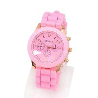 Jam Tangan GENEVA Korean Sweet Personality Fashion (Pink)