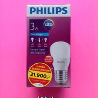 Jual Lampu LED Philips 3 watt / bohlam 3w / philips putih 3w / Bulb LED 3w Murah