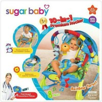 Jual Bouncer Sugar Baby 10 in 1 Premium Rocker Rainbow Forest Murah