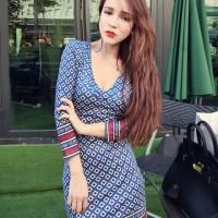 A30048 - Low Neck M Blue Liz Red Import Korean Fashion Cotton Dress