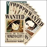 BOUNTY POSTER WANTED one Piece karakter Luffy dan kru mugiwara