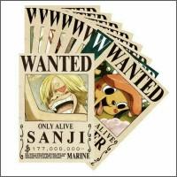 BOUNTY POSTER WANTED one piece karakter Sanji dan Kru Mugiwara