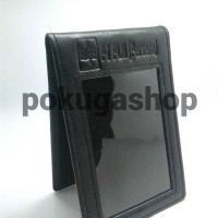 nametag kulit logo pln unisex / id card holder kulit asli garut