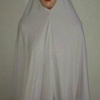harga jilbab putih / bergo putih / perlengkapan haji umroh / jilbab murah / Tokopedia.com