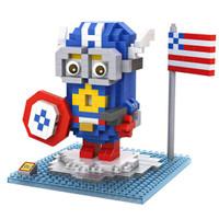 LOZ Lego Nano Block Nanoblock Captain America Minion