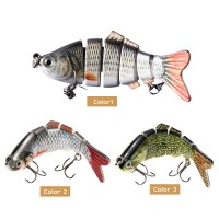 Umpan Pancing 10cm 3D Eyes Lifelike Fishing Lure With Treble Hooks 6