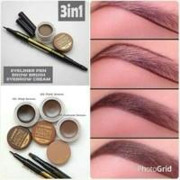 Jual Landbis / Lanbis Eyebrow Gel dan Eyeliner + Brush 3 in 1 Murah