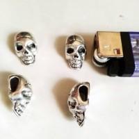 Skull Metal Beads untuk Gelang Paracord